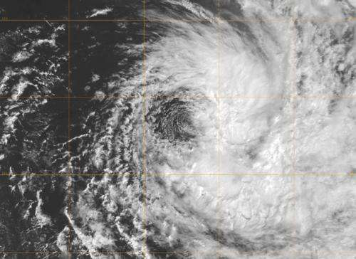 NASA satellite imagery shows Cyclone Imelda one-sided