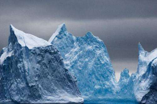 Antarctic ice bergs are seen in this file photo, released on November 1, 2011