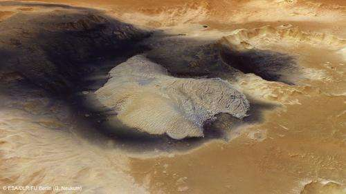 A radiating beauty on Mars
