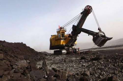 File photo of a coal mine in Huo Lin Guo Le, China's north Inner Mongolia region, pictured on November 15, 2010