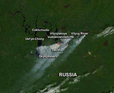 Fires in Eastern Russian and Siberia