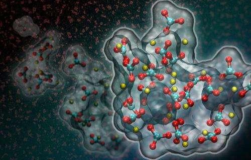 Computer simulations indicate calcium carbonate has a dense liquid phase