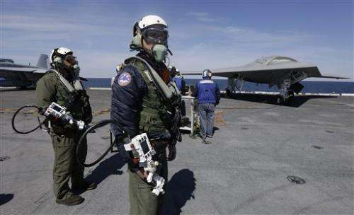 US Navy launches unmanned aircraft from carrier