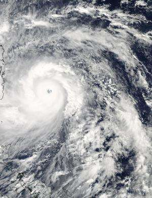 NASA satellites see Super-Typhoon Haiyan lashing the Philippines