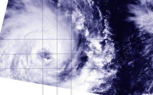 NASA sees Tropical Cyclone Bruce still wide-eyed
