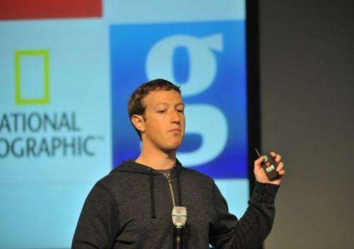 Facebook CEO Mark Zuckerberg speaks during a media event at Facebook's Headquarters office in Menlo Park, March 7, 2013
