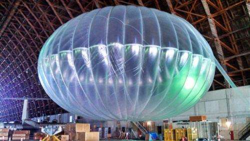 Google launches Internet-beaming balloons