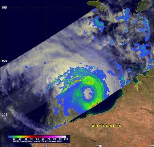 NASA sees Cyclone Rusty threatening Western Australia