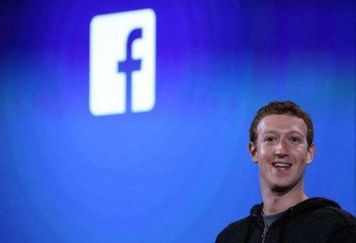 Facebook CEO Mark Zuckerberg speaks during an event at the company's headquarters in California on April 4, 2013