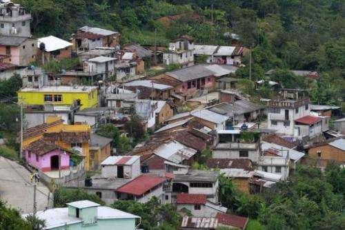 A general view of the village of Talea de Castro, Oaxaca State, Mexico, taken on August 17, 2013