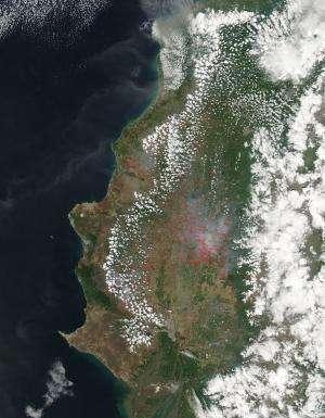 Agricultural fires in Ecuador Dec. 3, 2013