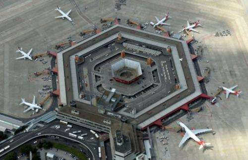 An aerial view at Tegel Airport in Berlin, Germany on August 1, 2013