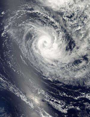 NASA catches Tropical Cyclone Amara's stretched out eye