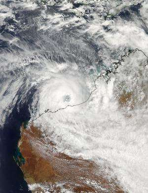 NASA satellites see slow-moving Cyclone Rusty before landfall