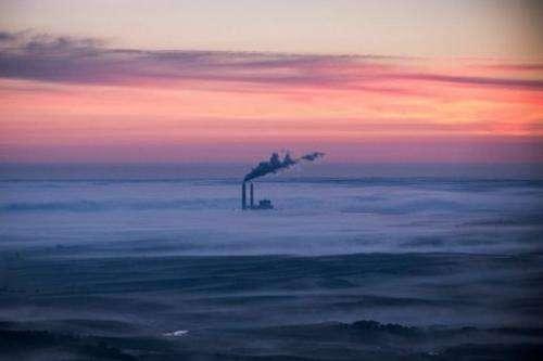 A coal-burning energy plant is seen onJuly 30, 2013 near Bismarck, North Dakota