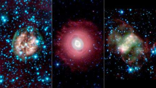 A ghostly trio from Spitzer Space Telescope