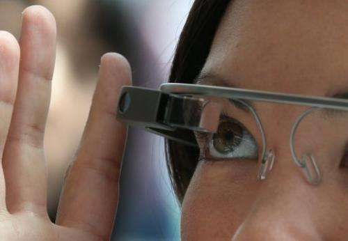 An attendee tries Google Glass during the Google I/O developer conference in San Francisco on May 17, 2013