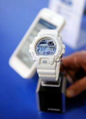 A new generation Casio G-Shock watch at CES on January 8, 2013 in Las Vegas, Nevada