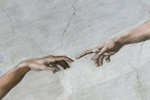 A painting on the ceiling of the Sistine Chapel in the Vatican ahead of a cardinals' conclave on March 9, 2013