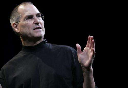 Apple CEO Steve Jobs is pictured in San Francisco on January 10, 2006