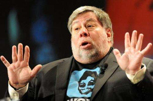 Apple co-founder Steve Wozniak is pictured in Sydney on May 14, 2012