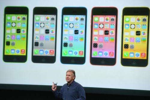 Apple Senior Vice President of Worldwide Marketing at Phil Schiller speaks about the new iPhone 5C on September 10, 2013