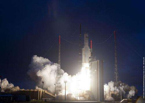 Ariane 5's first liftoff of 2013