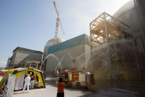 A safety drill at the Gori nuclear power plant on October 2, 2012