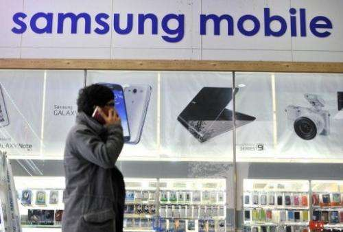 A Samsung mobile shop in Seoul, pictured on November 27, 2012