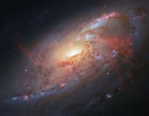 A spiral galaxy with a secret