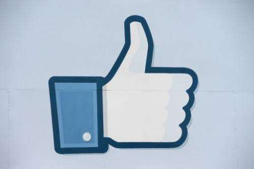 "A thumbs up or ""Like"" icon at the Facebook main campus in Menlo Park, California, May 15, 2012"