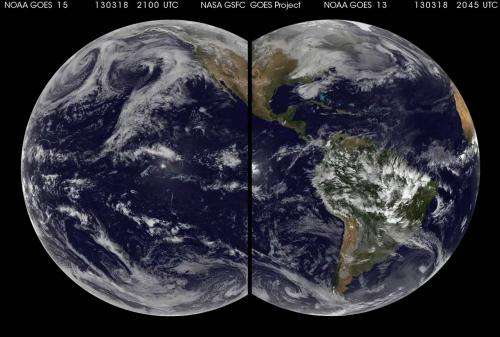 Bi-ocular animations of two oceans