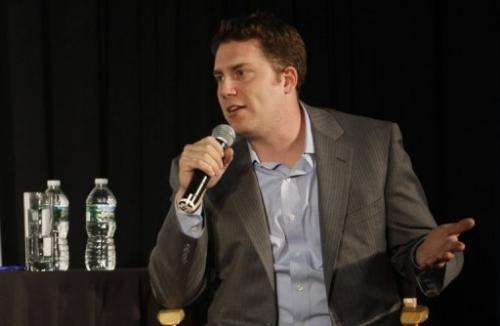 BuzzFeed editor-in-chief Ben Smith is pictured on May 3, 2012, in New York City