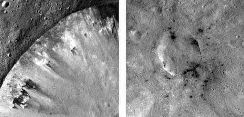 Carbon in Vesta's craters