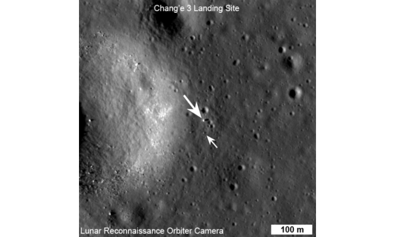 China's lunar lander spotted by orbiting spacecraft