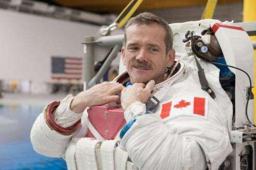 Chris Hadfield, Expedition 34 flight engineer and Expedition 35 commander, on March 14, 2012