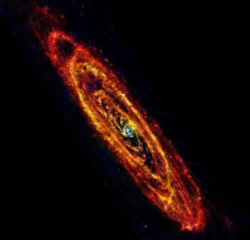 Cool, new views of Andromeda galaxy