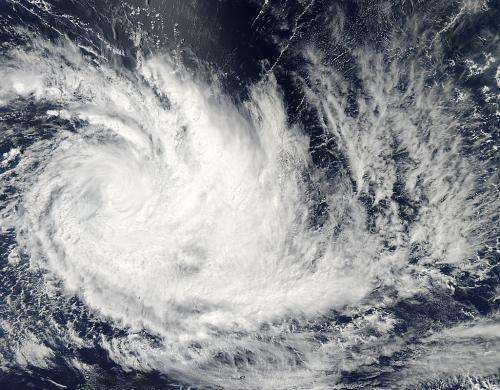 Cyclone Imelda turned the corner on NASA satellite imagery