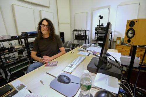 David Chesky, a composer with his own record label, poses for a photo at his studio in New York, on December 10, 2013