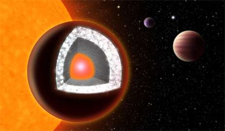 Diamond 'super-Earth' may not be quite as precious, graduate student finds