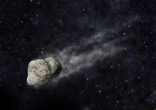 Discovering the birth of an asteroid trail