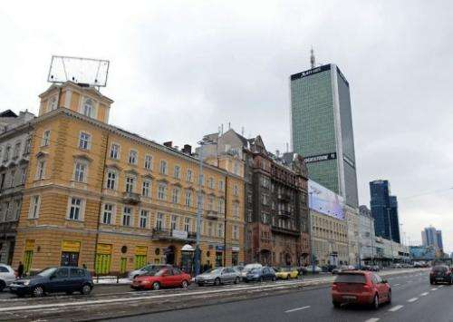 Downtown Warsaw is pictured on March 22, 2013