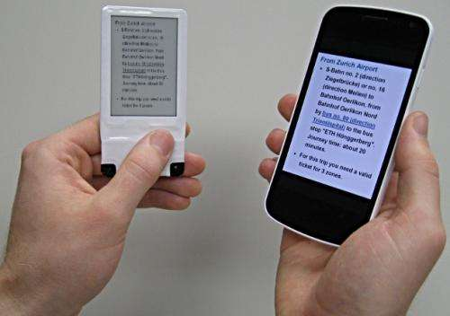 E-paper display powered by NFC from smartphone (w/ Video)