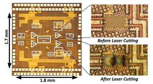 Caltech engineers build self-healing electronic chips that repair themselves