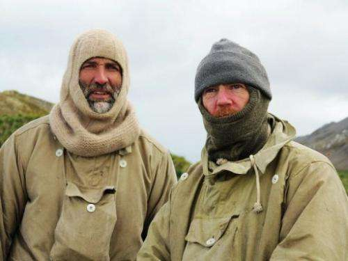 Expedition leader Tim Jarvis (L) and mountaineer Barry Gray,