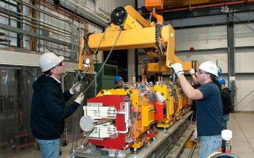 Final magnet girders installed at NSLS-II