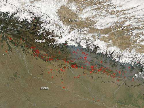Fires in Nepal