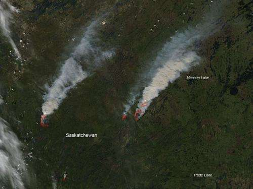 Fires in northern Saskatchewan