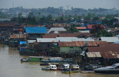 Floating houses on the Mahakam river in Samarinda's city of coal mining, in East Kalimantan, pictured November 10, 2013