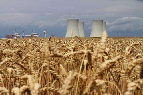 Four cooling towers from the Temelin Nuclear Power Plant are seen in the Czech Republic, on July 24, 2011